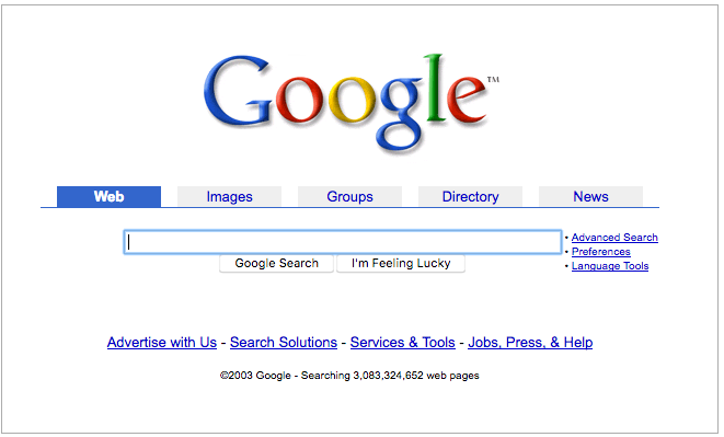 Old Google Search